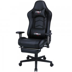 Cyrola Large Gaming Chair with Footrest High Back Adjustable Armrest Heavy Duty