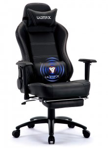 UOMAX Gaming Chair, Black Reclining Massage Gamer Chair for Adults,