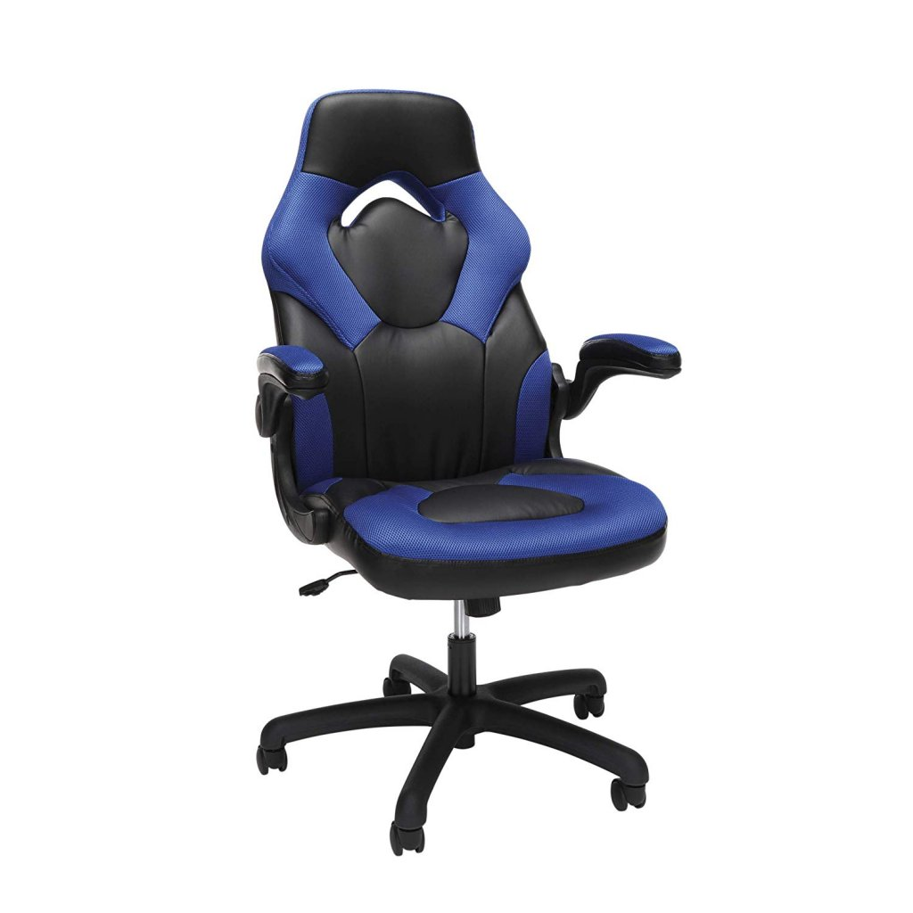 OFM Essentials Collection Racing Style Bonded Leather Gaming Chair,