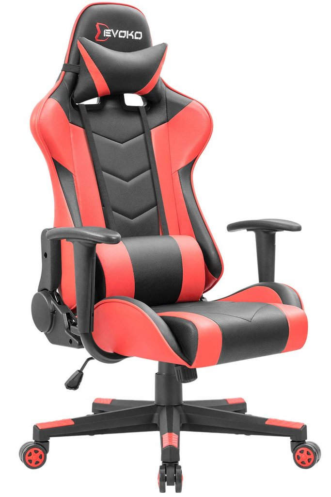 Devoko Ergonomic Gaming Chair Racing Style Adjustable Height High-Back