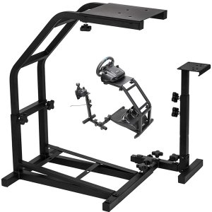 Vevor Racing Simulator Cockpit Height Adjustable Racing Wheel Stand with Logitech