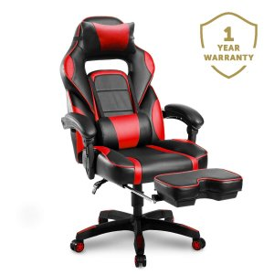 Merax Racing Gaming Chair with Footrest | Ergonomic Office Reclining Chair